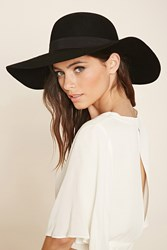 Forever 21 Floppy Wool Hat Black