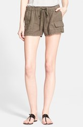 Women's Joie 'Ilya' Linen Cargo Shorts Fatigue