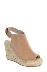 Kenneth Cole Women's New York 'Olivia' Espadrille Wedge Sandal Almond Suede