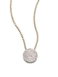 Phillips House 14K Gold And Diamond Mini Infinity Pendant Necklace