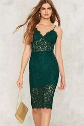 Bardot Hailey Lace Skirt Green