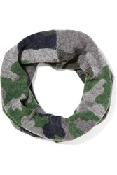 Autumn Cashmere Printed Scarf Gray