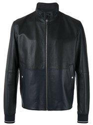 Christian Dior Homme Zip Up Jacket Men Calf Leather Cupro 50 Black