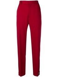 Y Project Smart Cropped Trousers Red