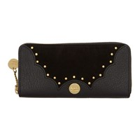 See By Chloe Black Nick Long Zipped Continental Wallet