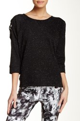 Steve Madden Cut Out Shoulder Sweater Black