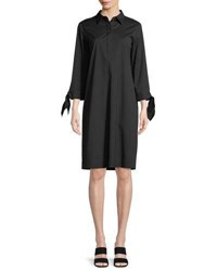 Lafayette 148 New York Talia Stretch Cotton Dress Black