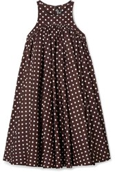 Calvin Klein 205W39nyc Polka Dot Twill Mini Dress Brown