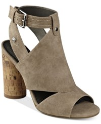 G By Guess Jonra Open Toe Sandals Women's Shoes Taupe