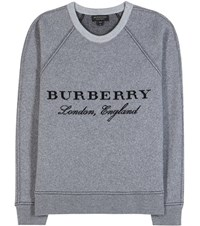 Burberry Wool And Cashmere Sweatshirt Grey