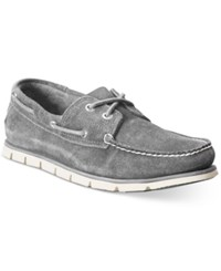 Timberland Men's Tideline Classic 2 Eye Boat Shoes Men's Shoes Gray