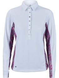 Daily Sports Court Long Sleeved Polo Shirt White