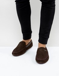 Ted Baker Morris Moccasin Slippers Brown