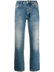 Victoria Beckham High Waisted Tapered Jeans Blue