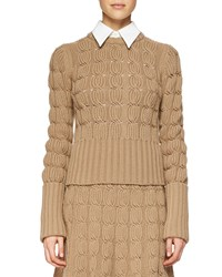 Michael Kors Cashmere Blend Mixed Knit Sweater