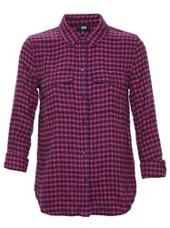 Paige Gingham Shirt Red