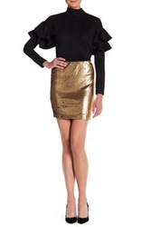 Romeo And Juliet Couture Sequined Mini Skirt Metallic