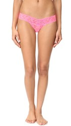 Hanky Panky Petite Signature Lace Low Rise Thong Glo Pink