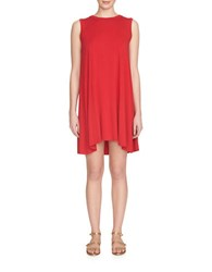 1.State Cutout Trapeze Dress Red