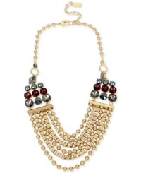 Kenneth Cole New York Gold Tone Beaded Statement Necklace
