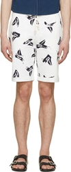 Band Of Outsiders White Sailboat Shorts
