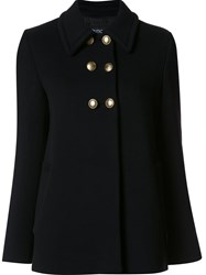 Boutique Moschino Double Breasted Coat Black