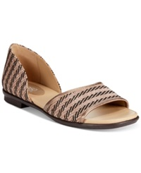 Easy Spirit Kalindi Flat Sandals Women's Shoes Taupe Multi