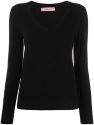 Twin Set Fitted V Neck Pullover 60