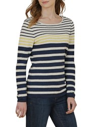 Seasalt Shark's Fin Stripe Jumper Sandhill Night