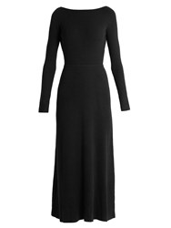 Elizabeth And James Caden Tie Back Long Sleeved Dress Navy