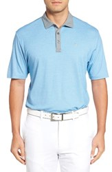 Travis Mathew Men's Knock Trim Fit Wrinkle Resistant Polo