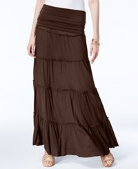Inc International Concepts Tiered Convertible Maxi Skirt Only At Macy's Brown