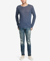 Denim And Supply Ralph Lauren Men's Crew Neck Sweater Indigo