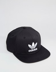 Adidas Originals Trefoil Snapback In Black Bk7324 Black