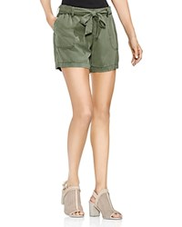 Vince Camuto Twill Belted Shorts Canopy Green