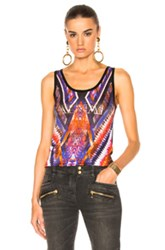 Balmain Graphic Tank In Black Purple Red Black Purple Red