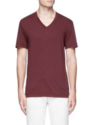 James Perse V Neck T Shirt Red