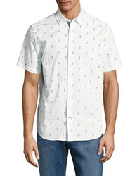 Nautica Anchor Print Short Sleeved Shirt Bright White