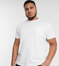 Threadbare Plus Basic T Shirt With Pocket In White