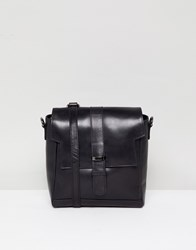 Urbancode Leather 2 In 1 Cross Body And Backpack Bag Black