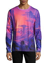 Opening Ceremony Sci Fi Graphic Print Tee Purple Pink