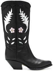 Buttero Western Ankle Boots Black