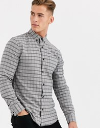 New Look Shirt In Grey Check
