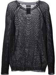 Diesel Sheer Woven Sweater Black
