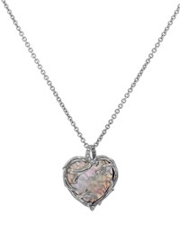 Michael Aram Enchanted Forest Twig Heart Necklace W Mother Of Pearl 18