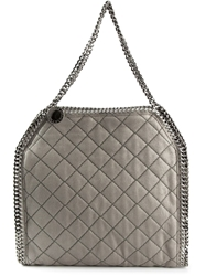 Stella Mccartney Quilted 'Falabella' Tote Grey