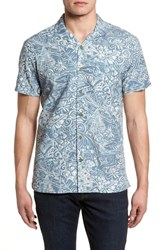 Kahala The Shoals Trim Fit Camp Shirt Grey