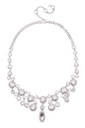 Givenchy Crystal Accented Chandelier Necklace Metallic