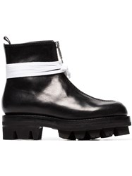 Alyx Tank Xx Leather Zip Up Ankle Boots Black