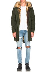 Mr And Mrs Italy Canvas Parka With Patch Virginia Fox In Green